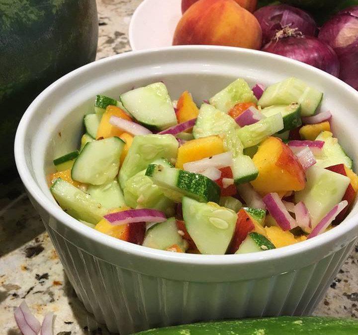 Cool as a Cucumber Peach Salad!