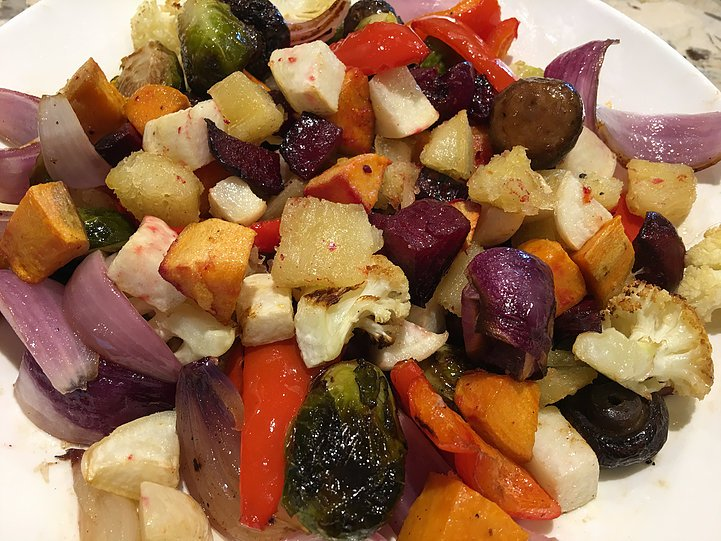 A Rainbow of Roasted Root Vegetables