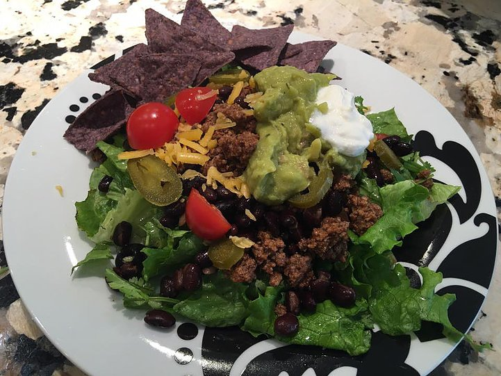 Taco Salad. Almost too pretty to eat!